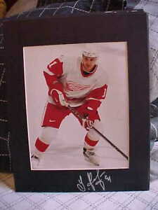 DETROIT-RED-WINGS-SERGEI-FEDOROV-SIGNED-MATTED-8X10