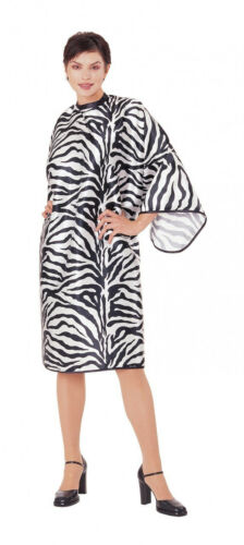 ANDRE #1100 Zebra Hair cutting Snap Cape Xtra-Large Silky Polyester
