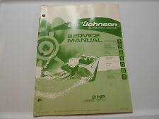 1973 2 hp Johnson Outboard Motor Repair & Service Manual Evinrude 2 HP