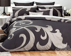 Logan-amp-Mason-Regal-Black-Silver-Quilt-Duvet-Cover-Set-SINGLE-DOUBLE-QUEEN