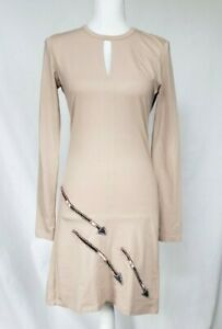 New-W-Tag-Anthropologie-Beige-Arrow-Organic-Dress-Small