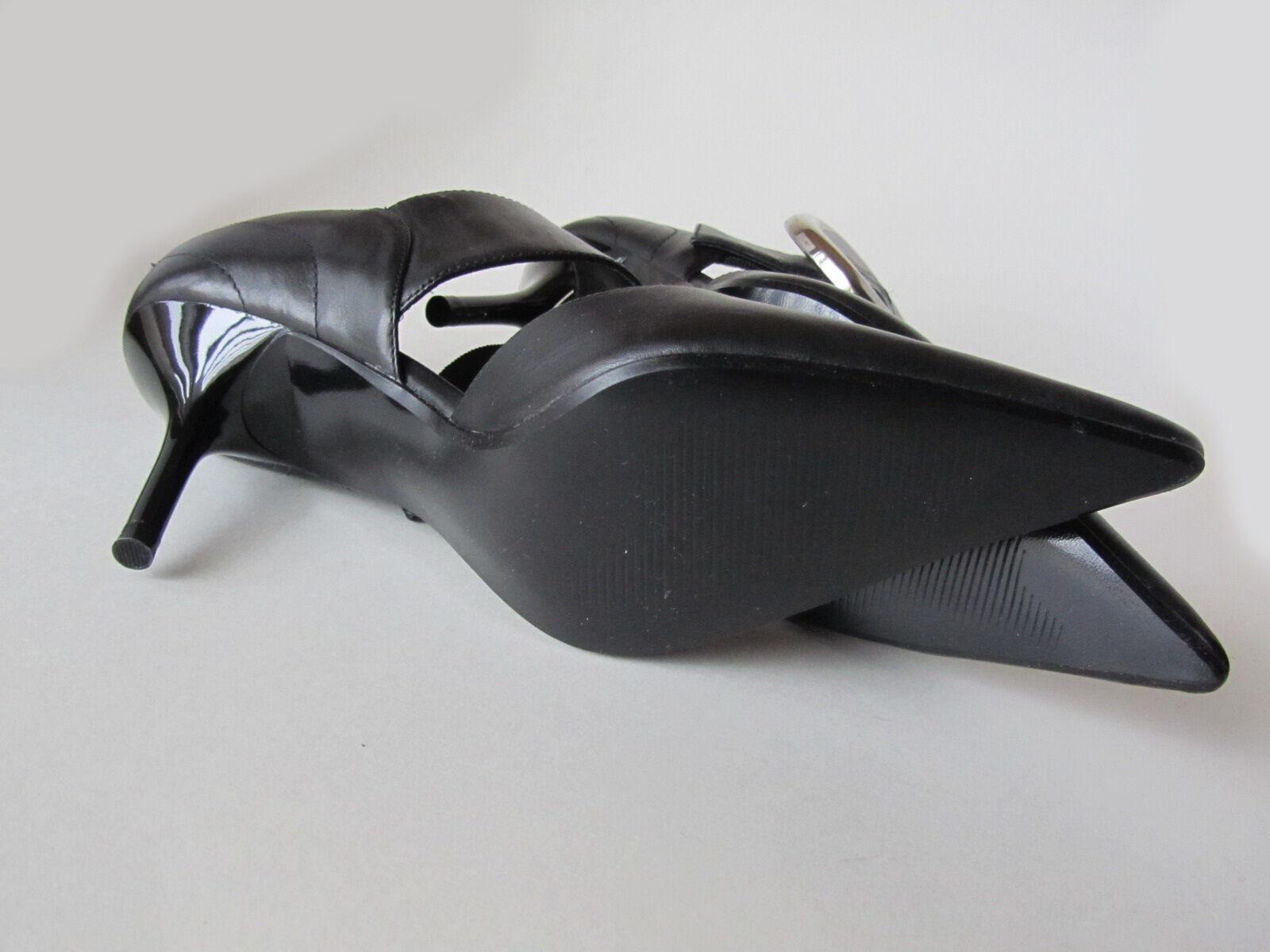New Steve Madden women's black 5.5 leather shoes size 5.5 black 6cc779
