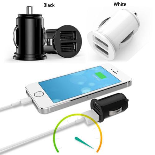 Mini Dual USB Car Charger Twin Port 12V Universal Lighter Socket Adapter plug UK