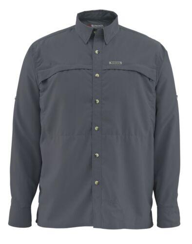 Simms STONE COLD Long Sleeve Shirt ~ NEW Nightfall ~ Large ~ CLOSEOUT