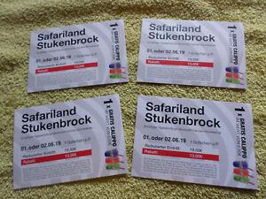Safari Park Safariland Stukenbrock biglietti SCADUTA PER COLLEZIONISTI