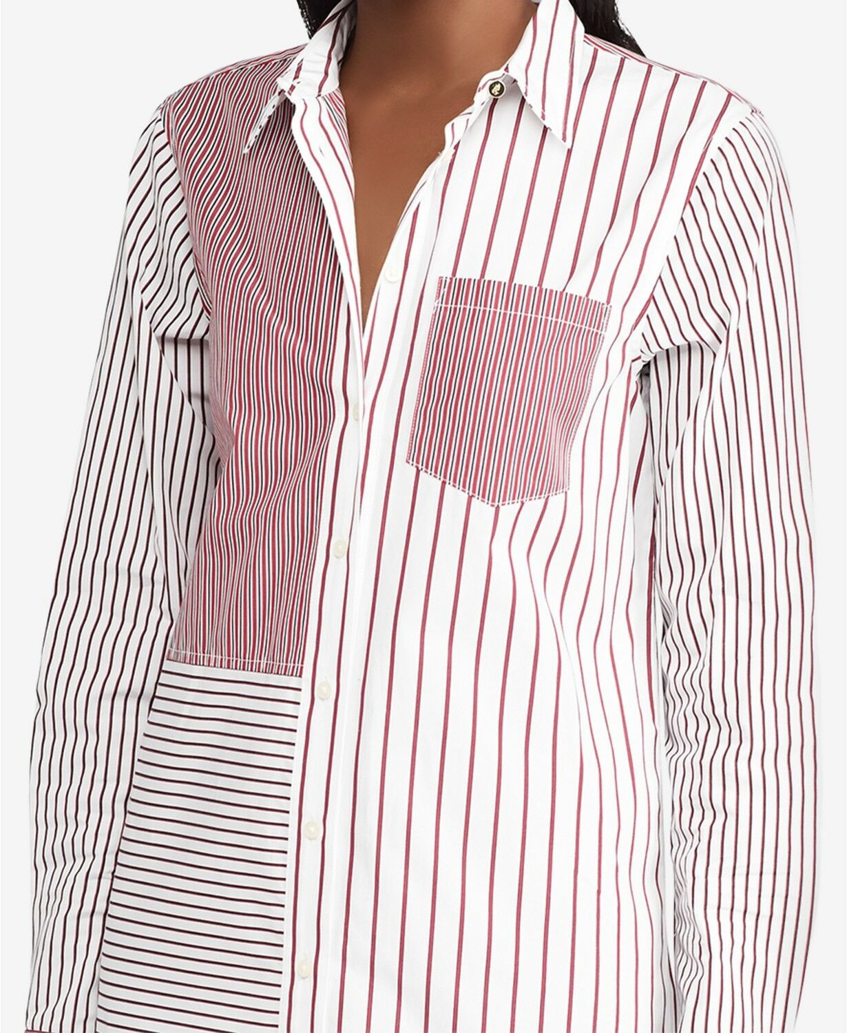 Ralph Lauren Red White Striped Cotton Shirtdress Womens size size size Large NWT 829149