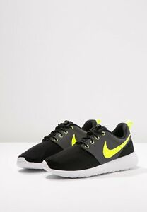 ab52712313d5 Nike Roshe One GS Junior Womens Mens Black Volt White Dark Grey ...
