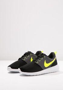 9805d727fc Nike Roshe One GS Junior Womens Mens Black/Volt/White/Dark Grey ...