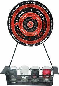 Quickdraw-Adulto-Dardos-Dardos-Magnetico-Juego-de-Beber-Placa-amp-Juego-De-723-vasos-de-chupito