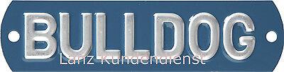 Delightful Colors And Exquisite Workmanship Novel Designs Lanz Bulldog Schild Motorhaube Blau/silber Traktor D1616 D2016 D2416 D2816 Famous For Selected Materials