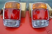 DATSUN 1200 UTE, BRAND NEW CHROME TAIL LIGHTS INC. BULBS - VIEW OUR DATSUN STORE