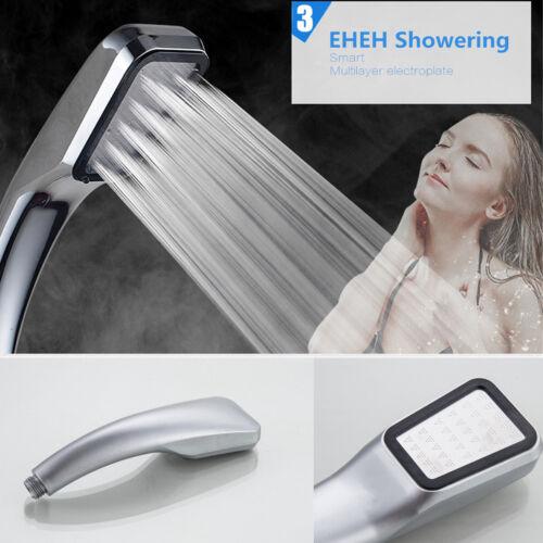 300 Löcher Duschkopf Hochdruck Hochdruck Handbrause Bad set 30/% Wassersparend