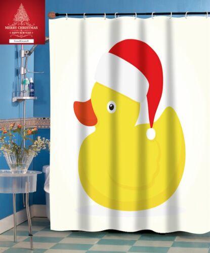 Christmas Rubber Ducky Fabric Shower Curtain By GoodGram¨
