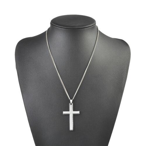 Unisex/'s Men Women Gold Silver Tone Cross Pendant Necklace Chain Fashion Jewelry