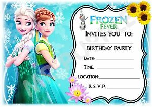 image is loading a5 disney frozen fever childrens party invitations x12