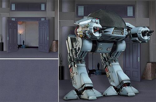 alta calidad general Telón de fondo de Cochetel se envía enrollado  Robocop Robocop Robocop  Exec para 1 6 HOT TOYS figuras ED-209 MMS12  Entrega directa y rápida de fábrica
