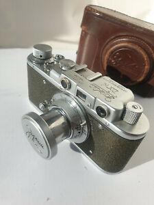 Zorki-1 Vintage rare camera USSR rangefinder 35mm M39 Leica+Industar 22 red P