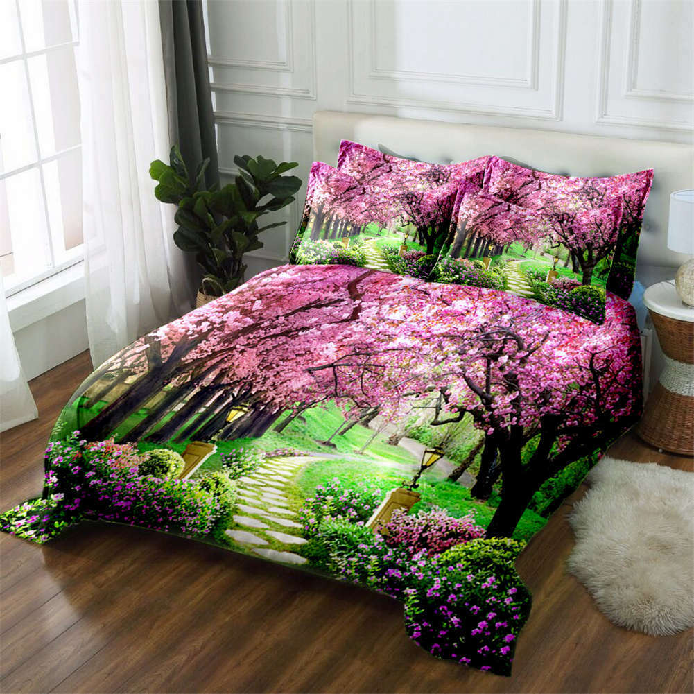 Sweet Mulberry 3D Printing Duvet Quilt Doona Covers Pillow Case Bedding Sets