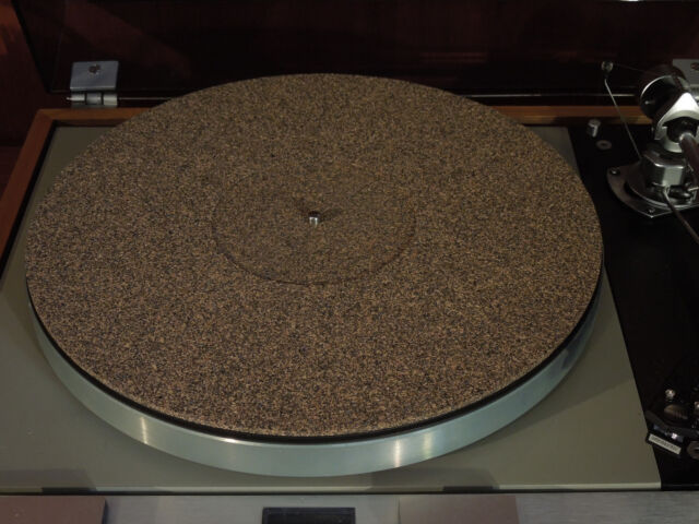 with .5mm recess for record labels Lot of 10 Rubber//Cork Turntable Mat