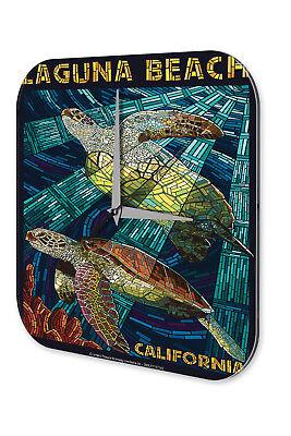 Disinteressato Orologio Da Parete Avventurieri Muro Decorazione Laguna Beach Californien Tartarughe Acrilico Dekou-mostra Il Titolo Originale Styling Aggiornato