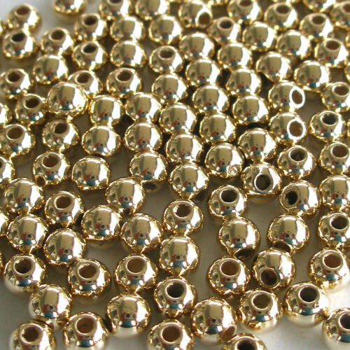 2 1//2mm Gold 2.5mm Pearl Style Acrylic//Faux//Plastic Spacer Beads ~500 pieces