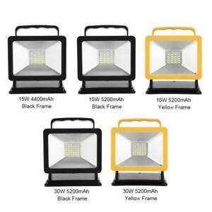 Image Is Loading Led Portable Spotlight Work Light Usb Rechargeable Battery