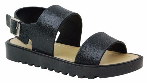 Little Girls Junior Youth Color Slingback Flat Open Toe Gladiator Sandals Shoes