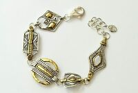 Silpada globetrotter Mixed Metal Sterling Silver Brass Bracelet B3214