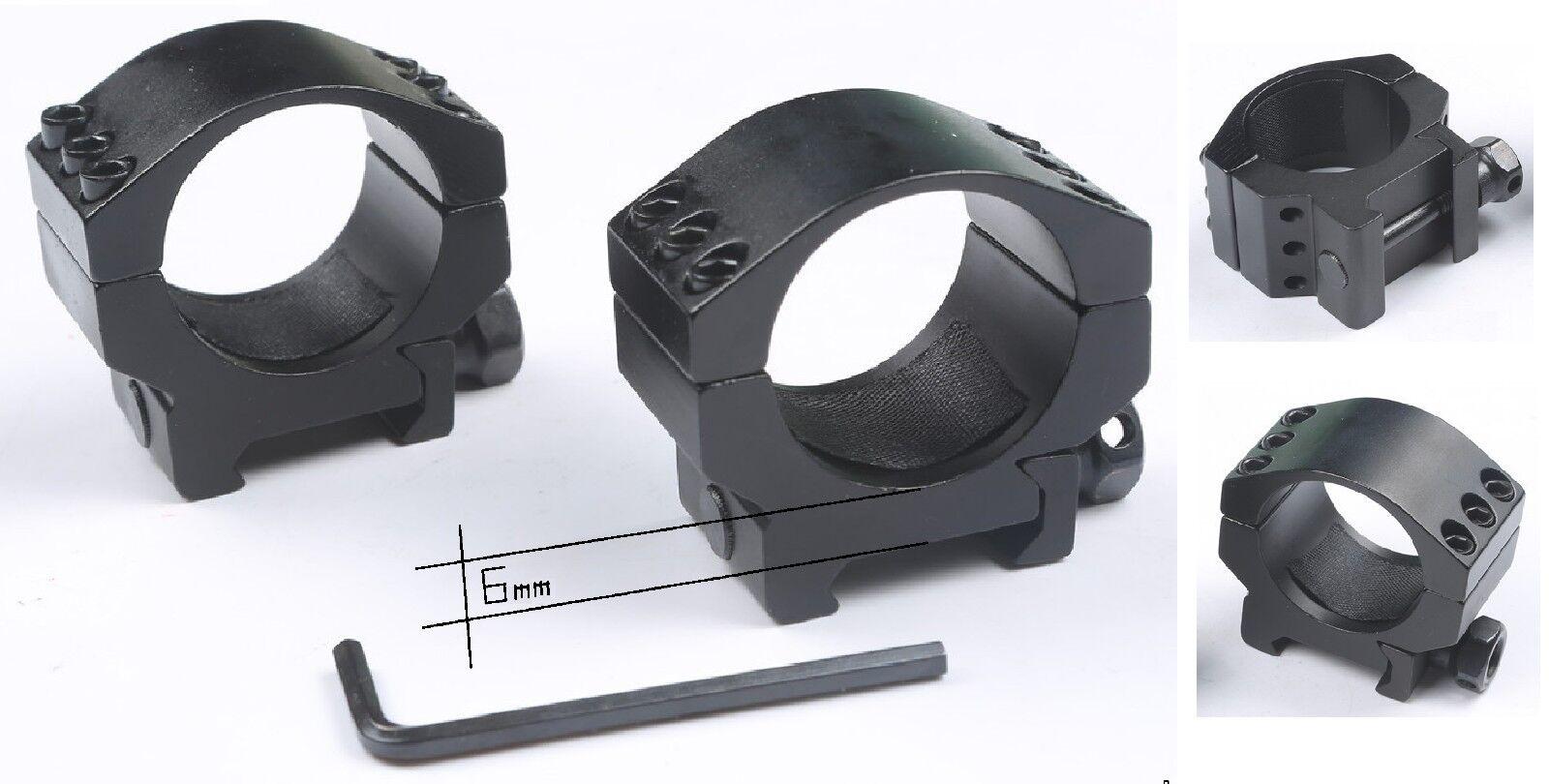 Anillas MuyBajas Picatinny para Visores 30 mm de de de diámetro  Caza Rifles  400c00