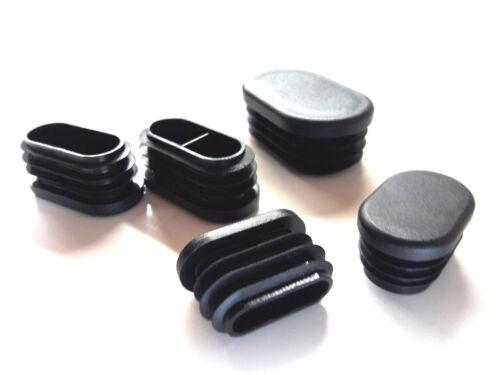 OVAL Rohrstopfen 15x30 bis 30x50mm Lamellen Stopfen Rohrkappen