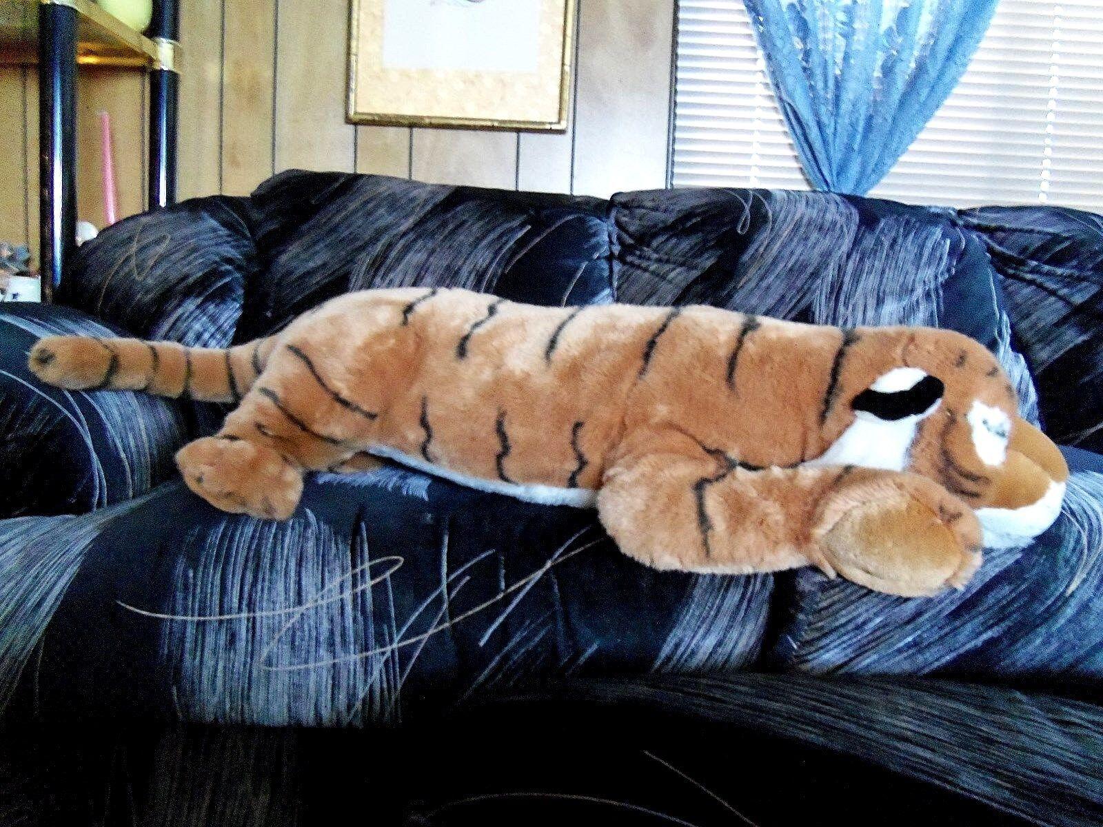 Giant 38  plush stuffed floppy Wild Republic Tiger Cat animal