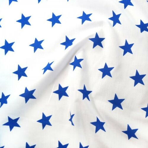 Polycotton Fabric 27mm Starry Sky Stars On White Space Galaxy