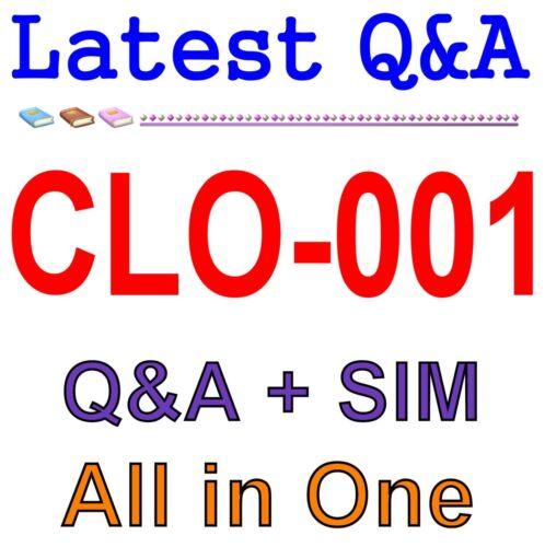 CompTIA Cloud Essentials CLO-001 Exam Q/&A PDF+SIM