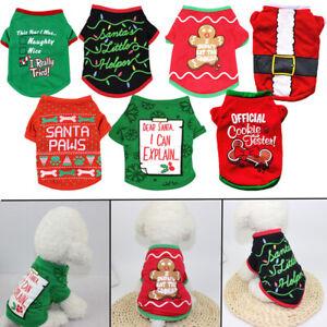Navidad-Perro-sudaderas-Chaleco-Mascota-ropa-de-fiesta-Disfraz-de-Halloween
