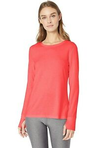 AMAZON-ESSENTIALS-Studio-Long-Sleeve-T-Shirt-Womens-Size-S-Bright-Pink