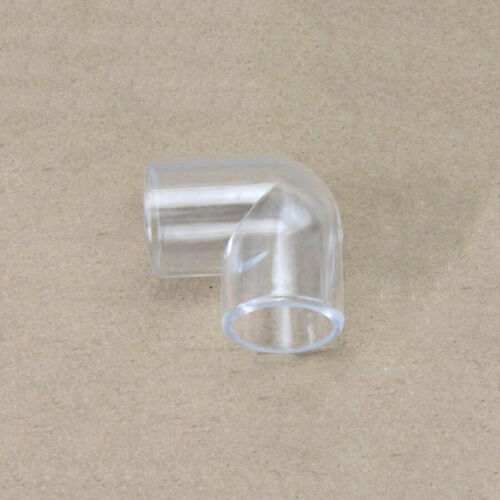 """3//8/"""" 1//2/"""" 3//4/""""BSP Acrylic Elbows Right Angle Hose Pipe Joiner Connector Aquarium"""