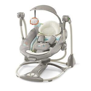 Silla-mecedora-asiento-de-gorila-bebe-durmiente-Swing-Convertible-Portatil-Balancin-infantil