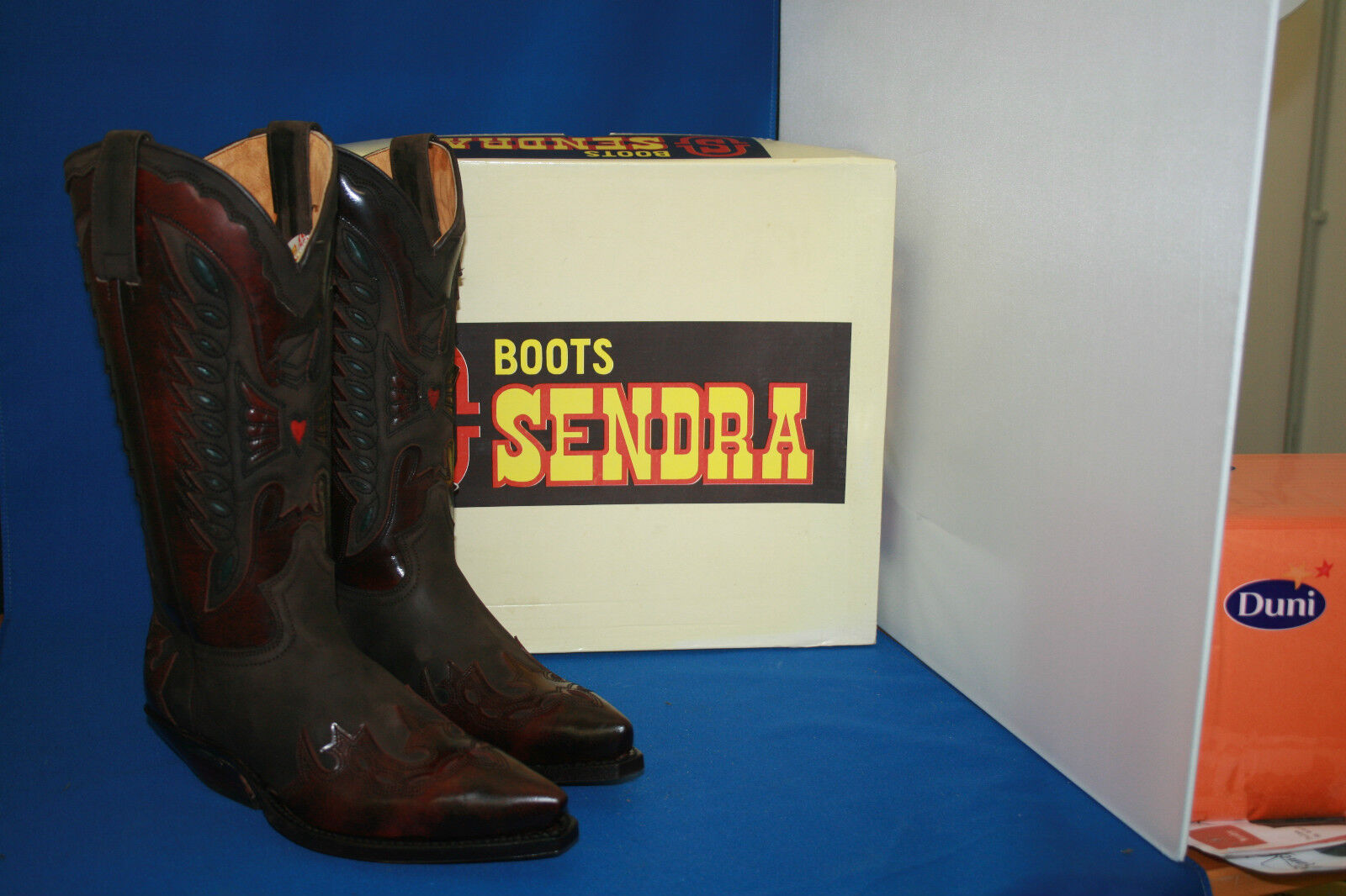 Sendra Boots Stivali Western Stivali Cowboy Stivali Sendra GR. 37 DESIGN NUOVO 4 1/2