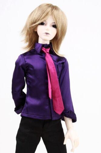 529# Purple Satin Shirt SD17 DZ70 AOD DOD BJD Dollfie PF