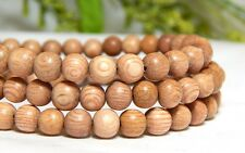 70 6mm Natural Rosewood Wood Beads Wooden Round Nature Light DIY Craft D-J05
