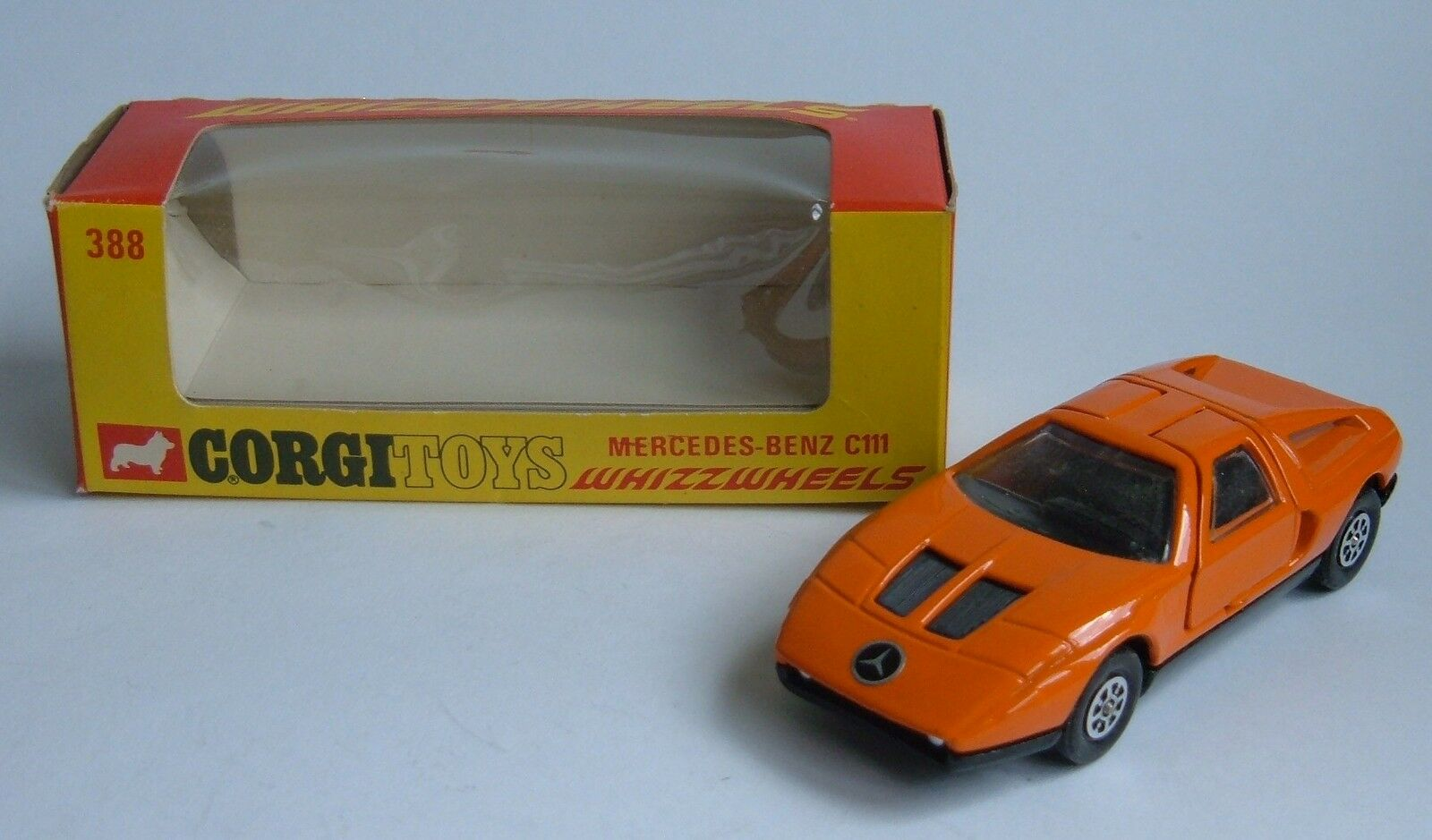 Corgi Toys No. 388, Mercedes-Benz C111, Whizzwheels, - Superb Mint