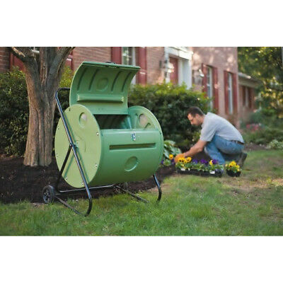Green Culture 37 Gallon Compost Tumbler Gray