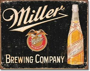 Miller-Brewing-Vintage-Metal-Tin-Sign-Wall-Art