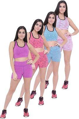 Women Sports Bra Gym Workout Fitness Exercises Yoga Top Stretch Bras & Short