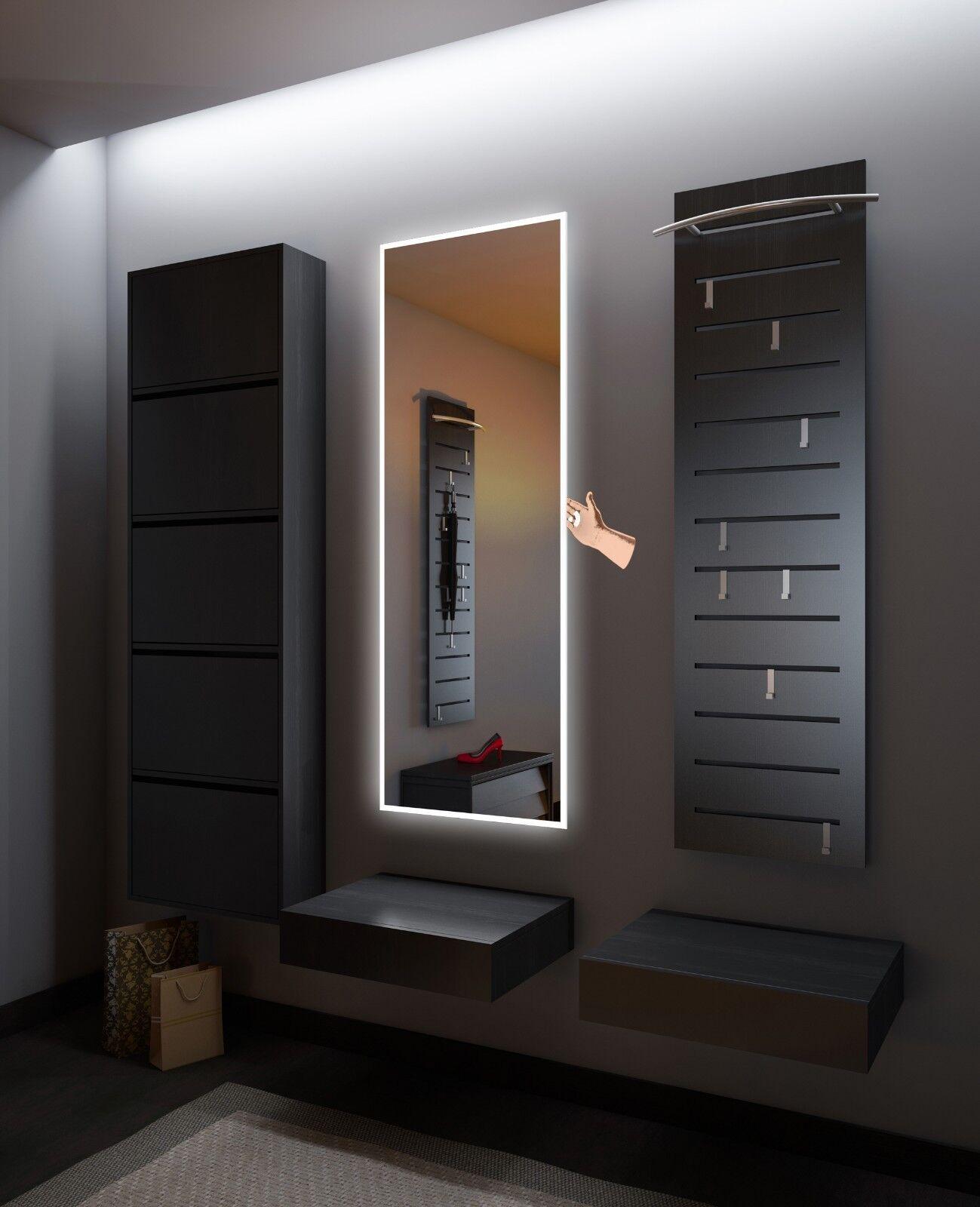 Flurspiegel mit LED Beleuchtung Dekorativer Spiegel     Touch Schalter   Sensor 01 170114