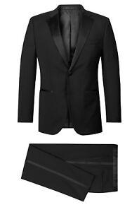 Hugo-Boss-Lujo-Traje-106-The-STARS1-GLAMOUR1-Tuxedo-de-Fumar-44L-Black-Tuxedo
