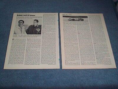 1971 Interview Artikel Mit Racing Legends Bobby & Al Unser Indy 500 Pikes Peak Bequem Und Einfach Zu Tragen