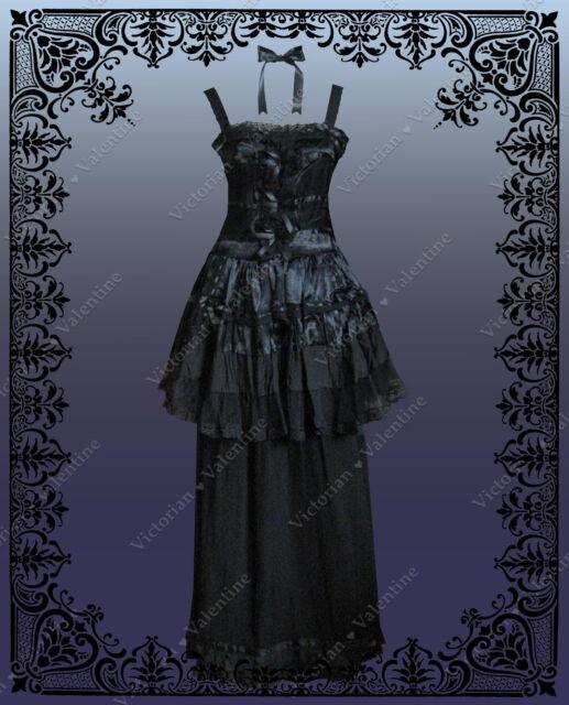 Steampunk Gothic Victorian Edwardian Alice in Wonderland Dress & Skirt Set New M