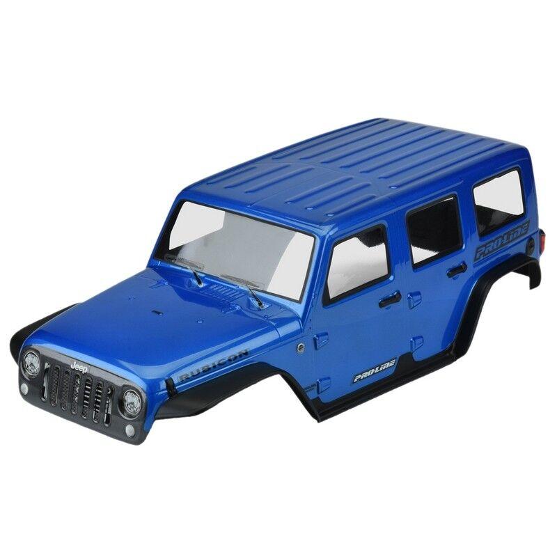Pro-Line 3502-13 Pre-Painted Pre-Cut Jeep Wrangler Rubicon (bluee) 12.8 TRX4
