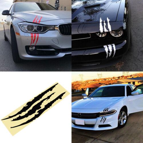 Cool Headlight Scratch Stripe Decal Sticker Claw Stripe Slash Truck Car Vinyl HQ